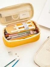 الكورية Kawaii العقوبات لطيف مدرسة مقلمة كبيرة كبيرة القلم حقيبة الحقيبة متعددة الوظائف صندوق أدوات مكتب لوازم صندوق مستحضرات هدية 2020