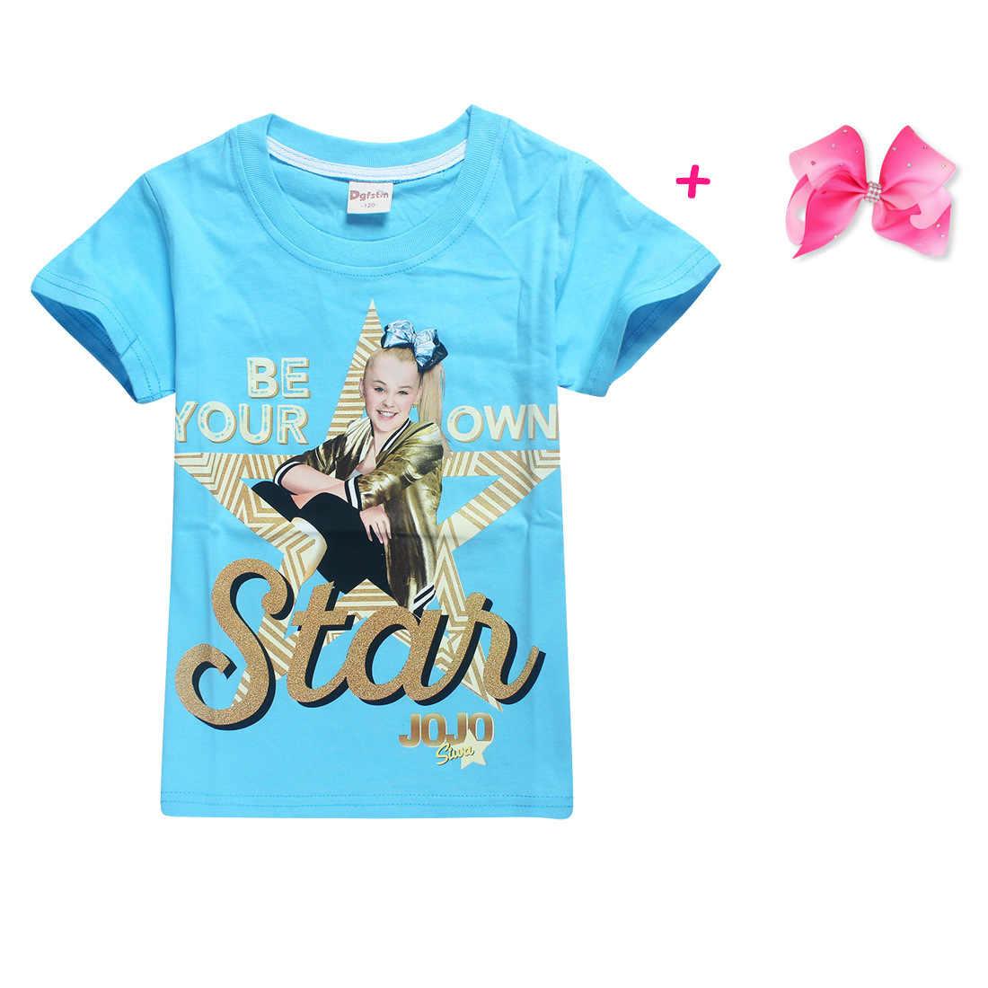 666b1e1e5 ... 100% Cotton T-Shirts for Children 2018 Summer Jojo Siwa Baby Girls Tops  Tees ...