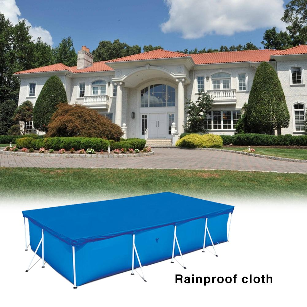 Large Size 400x211cm Cover Cloth Mat Cover Frame Pool For 3.5x2.01m Garden Pool Swimming Pool Cover Rainproof Dust Cover