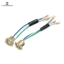 X Autohaux 2 шт 3 провода мотороллер Фара патрон-адаптер