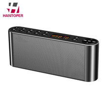 HANTOPER HiFi Wireless Speaker Dual Bass Bluetooth Speaker Portable Subwoofer With Led Display Speaker Support TF FM Radio USB(China)