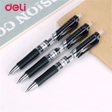 Deli gel pens office 12 pcs black ink stationery pen cute school supplies Creative stationery for writing High quality pen(China)