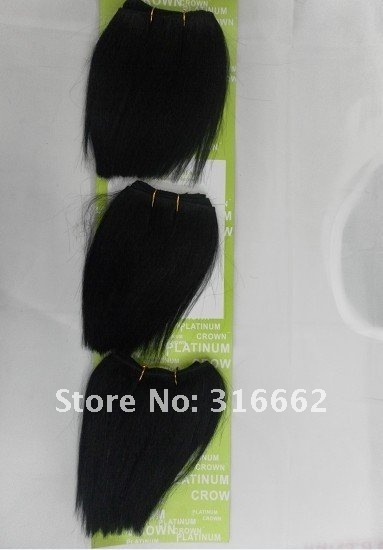 Human Hair Weaving  Straight hair   Hair Extension   6inch, 5pcs/lot