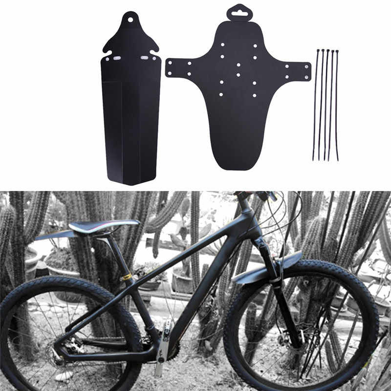 Ultra Lightweight Black Bicycle Mudguard High Quality Bike Mudguard Perfect Front And Rear Bicycle Mudguard Set