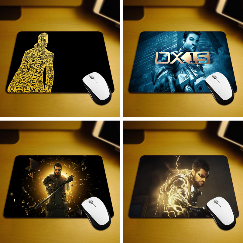 MaiYaCa Deus Ex Mouse Mats Computer Laptop Notbook 18*22cm and 25*29cm