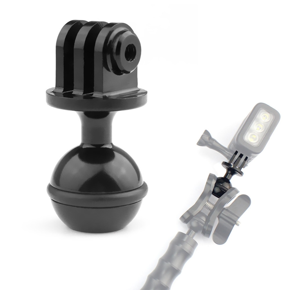CNC <font><b>Metal</b></font> Underwater Diving Ball Head Arm Mount <font><b>Adapter</b></font> for <font><b>Gopro</b></font> Hero 7 6 5 4 Session SJCAM YI 4K Action Cameras image