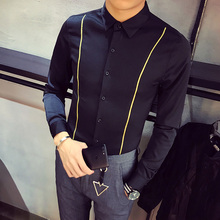 Brand England Men Shirt Long Sleeve Camisa Male Shirts Clothes Casual Slim Fit Social Masculina Chemise Homme