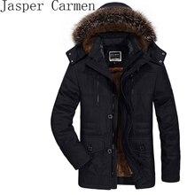 AFSJEEP Baumwolle herren winter mit kaschmir größe in der langen abschnitt des dicken mantel jacke L-6XL kostenloser versand Z145
