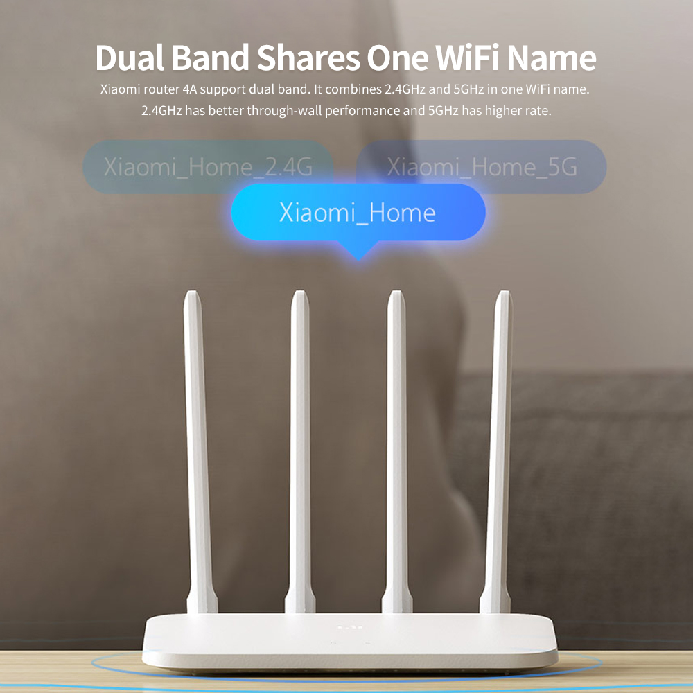 Xiaomi Mi Router 4A Gigabit Edition 2.4GHz 5GHz WiFi 16MB ROM 64MB DDR3 High Gain 4 Antennas Remote APP Control Support IPv6 (2)