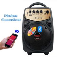 Q2 20W Outdoor Portable High Power Speaker Amplifier Bluetooth Loudspeaker Support Megaphone Microphone And AUX USB TF Column