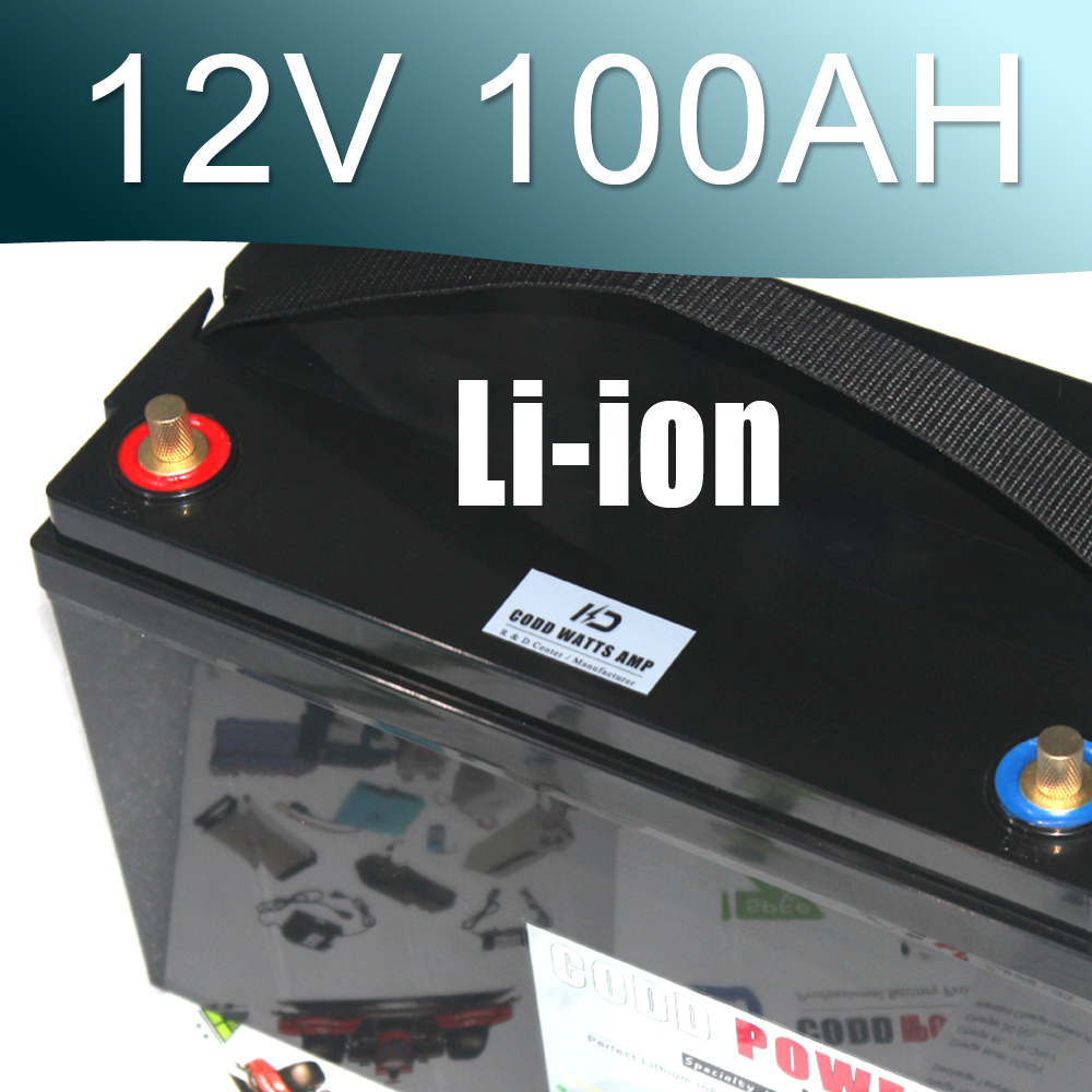 12V Lithium ion Battery Waterproof IP67 Box 100AH Li-ion battery аккумулятор для фонарика gaotan12v lithium ion battery 12v100ah 12v 100ah