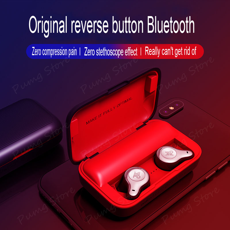 Mifo 2019 Wireless Binaural Earphone O2 Stereo Ultra mini invisible business Earbuds Bluetooth earphones with Mic