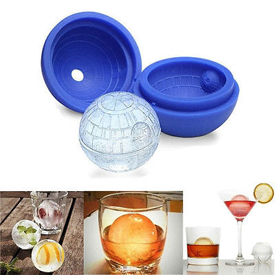 Useful <font><b>2X</b></font> 3D Silicone Ice <font><b>Cube</b></font> Round DIY Mould Silicone Ice Hockey Pudding Jelly Mold Ice Trays Ice Cream Tools image