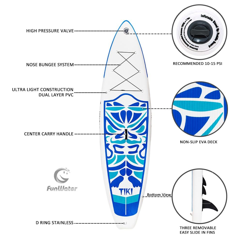 FunWater 320*84*15 cm inflable Paddle Junta Sup W/paleta Bolsa De Correa de la bolsa del teléfono - 3