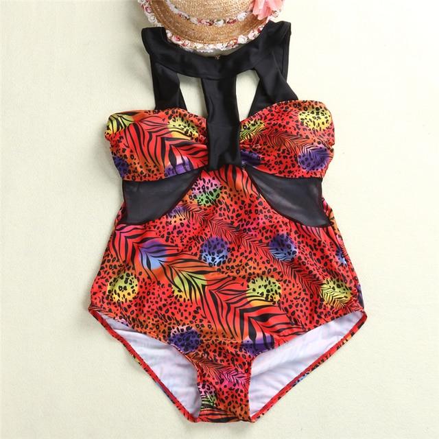3XL One Piece Swimsuit Women Brazilian Halter Padded One Piece Bikini Swimsuit Monokini Plus Size Tankinis Large Size Swimwear 5