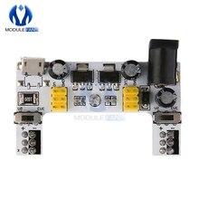 MB102 Micro USB Интерфейс макет Питание модуль MB-102 модуль для Arduino белого цвета, доступен в 5V 3,3 V 2 канала доска