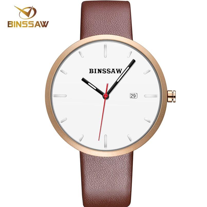 BINSSAW 2017 Luksusowa marka Moda Damska Zegarek kwarcowy kobiety - Męskie zegarki - Zdjęcie 5