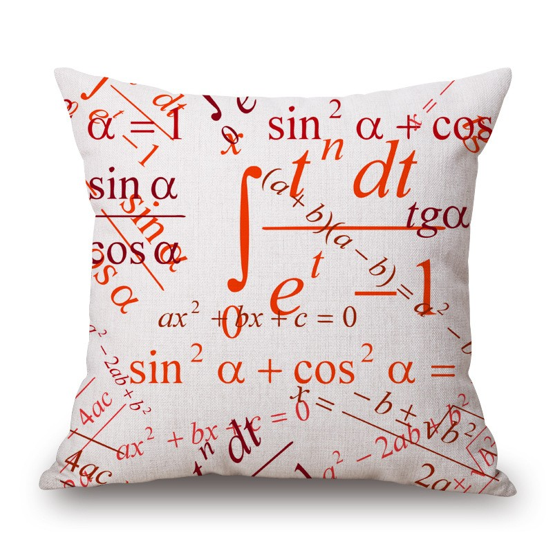 18'' Square Math Formula Cushion covers Science Chemistry Throw Pillow Covers Decorative Pillow Cases Customized Drop Shipping 16
