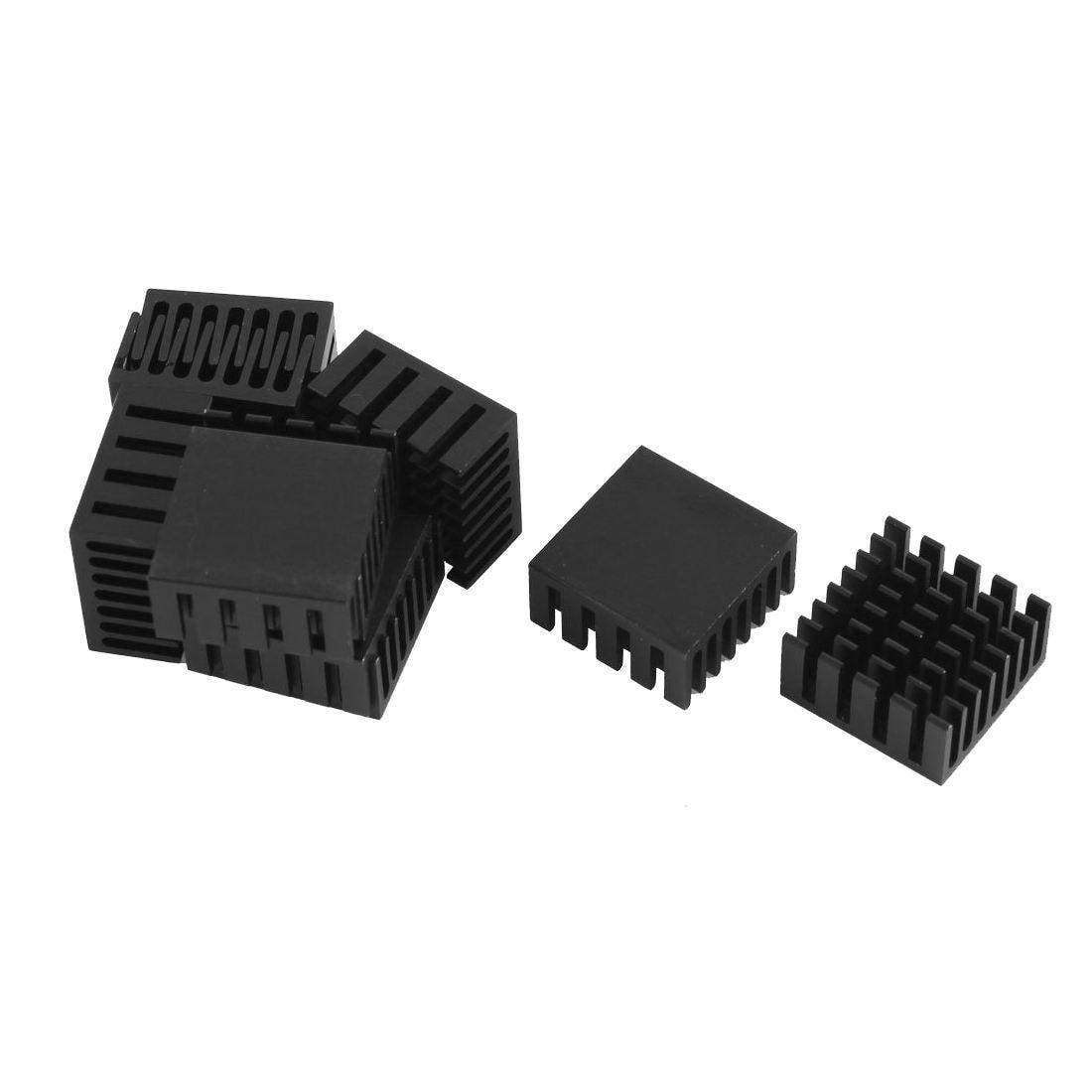 10 Pcs Black Aluminum Cooler Radiator Heat Sink Heatsink 20mm x 20mm x 10mm 2 x b ddr ddr2 ram memory cooler heat spreader heatsink z09 drop ship