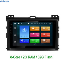 Octa-Core Android 6.0.1 CAR DVD GPS Navigation For Toyota Prado 120 2004 2005 2006 2007 2008 2009 2 Din Car audio multimedia DAB
