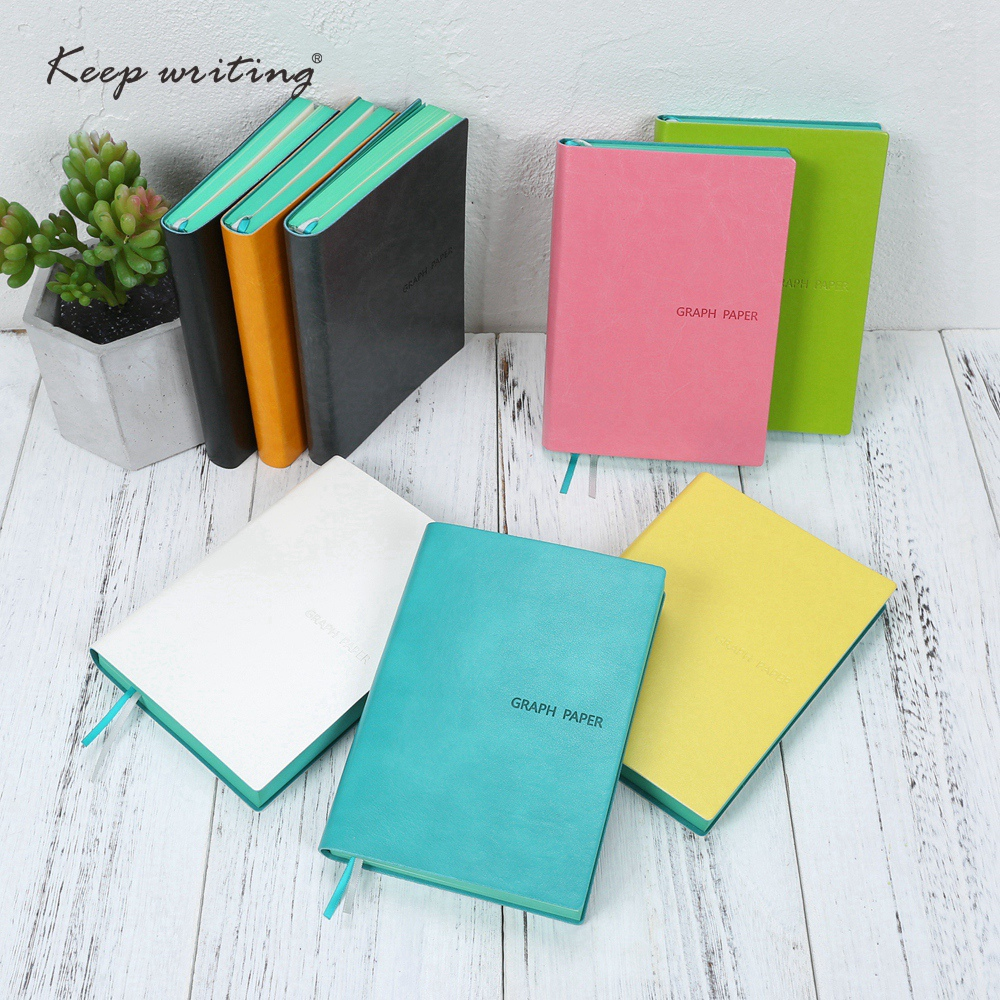 A6 portable notebook Grid Paper Graph pages Cute small note planners PU leather journal Stationery Store School office supplies bichot charles edmond graph partitioning