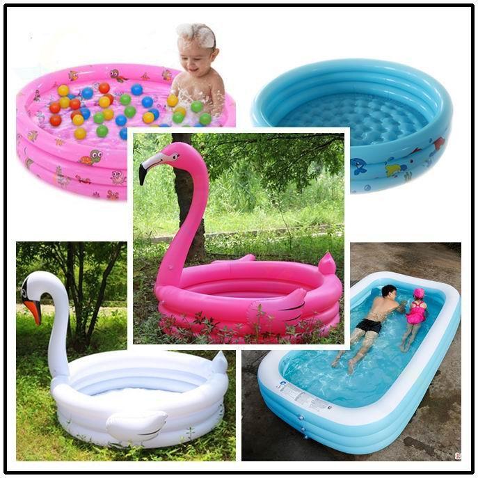 Flamingo Children Inflatable Swimming Pool Water Play Outdoor Piscina Portable Crocks Bathing Pool Water Toys Ocean Ball Pool