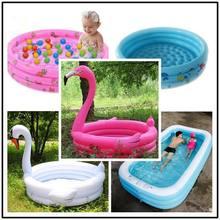 Flamingo children inflatable swimming pool water play outdoor piscina portable crocks bathing pool water toys Ocean ball pool недорого