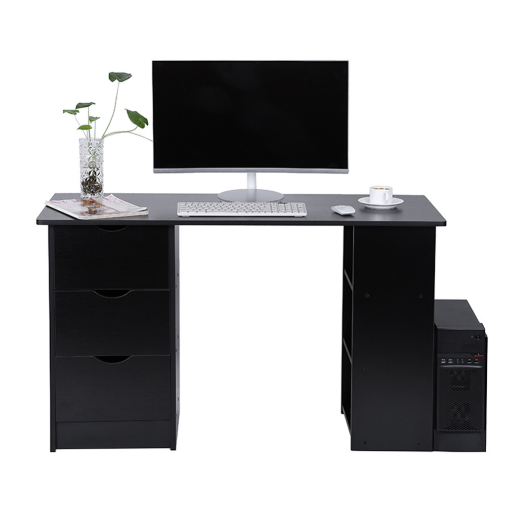 Modern And Practical Computer Desk Office Student Study Table Corner Furniture With Drawers And Cupboard Shelves