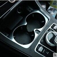 High quality For Mercedes Benz cup holder decorative Trim Cover Sticker For Mercedes Benz W205 W204 C Class E Class W213 GLC