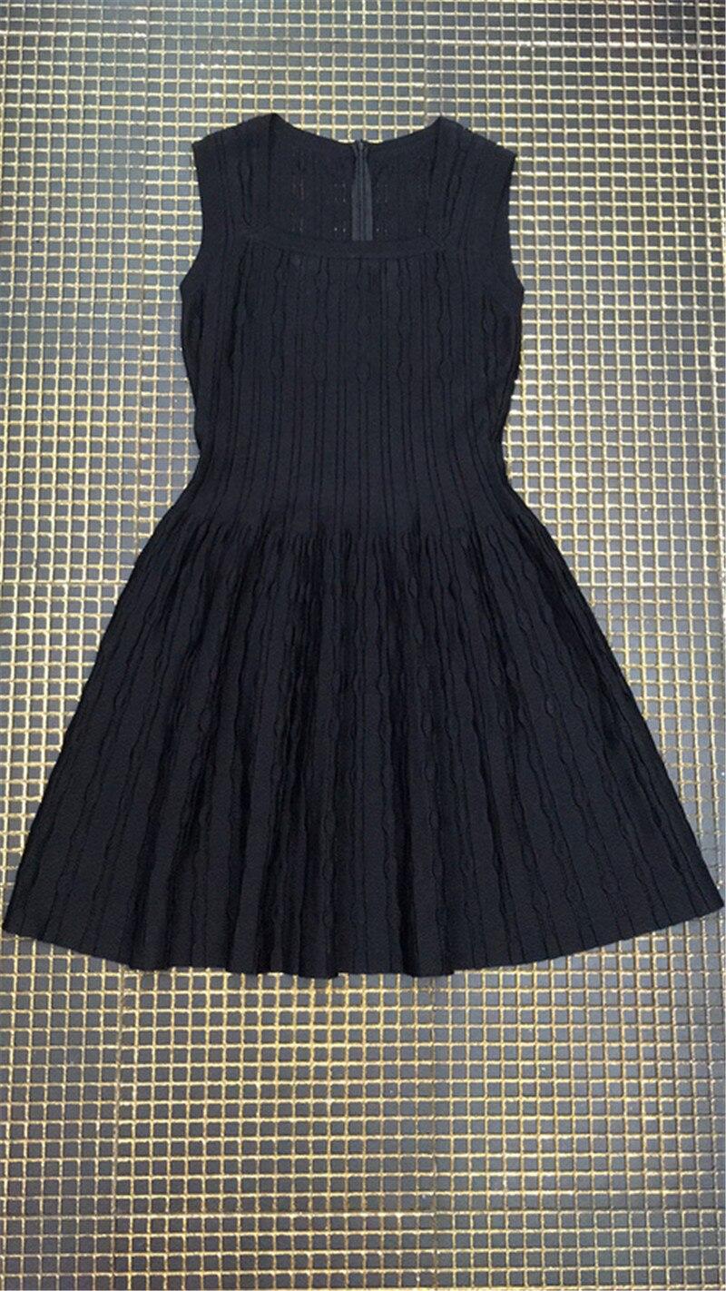 Bandage Black Dress Sleeveless