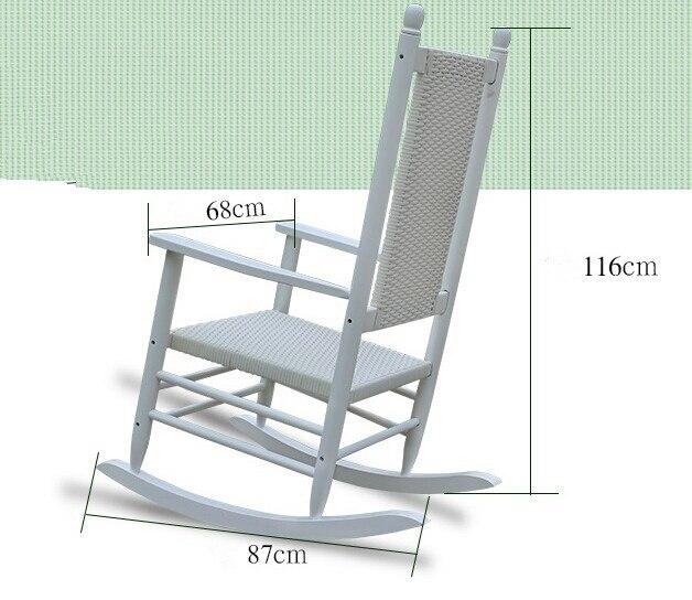 Magnífico Mecedora Muebles Dimensiones De Las Sillas Galería ...