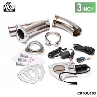 3 INCH EXHAUST CUTOUT ELECTRIC DUMP Y PIPE CATBACK CAT BACK TURBO BYPASS STEEL CUTOUT03