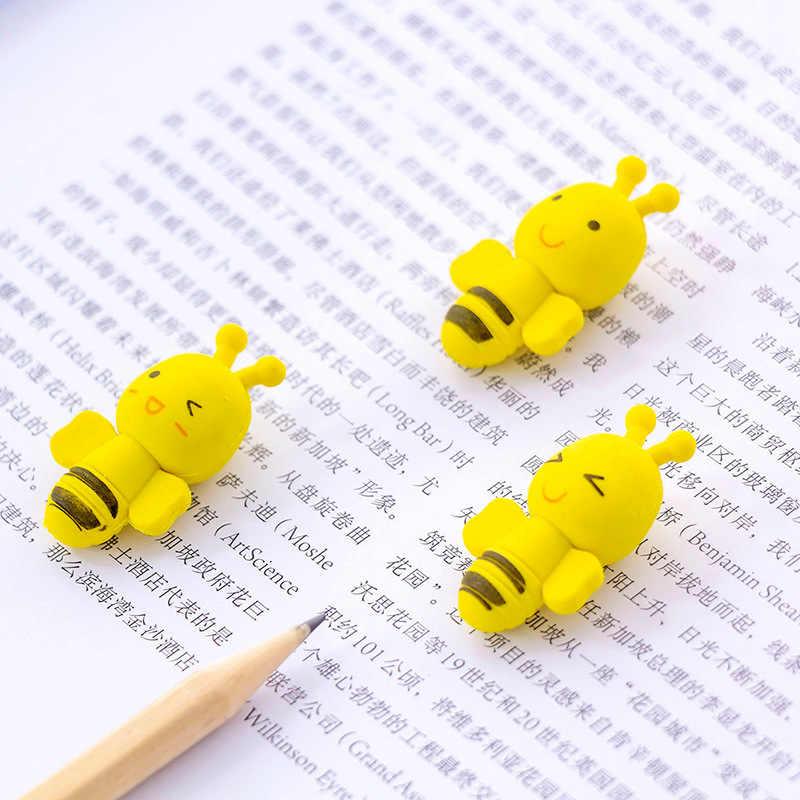 2 pçs bonito abelha a borracha papelaria por atacado estudantes borracha kawaii bonito estudante presentes