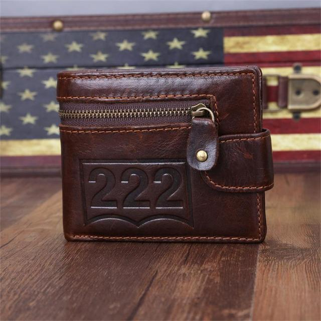 Genuine Leather Men Wallets Luxury Brand Famous With Credit Card Holders Man Short Designer Bifold Carteiras Purses Fashion Gift