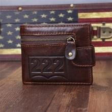 Genuine Leather Men Wallets Luxury Brand Famous With Credit