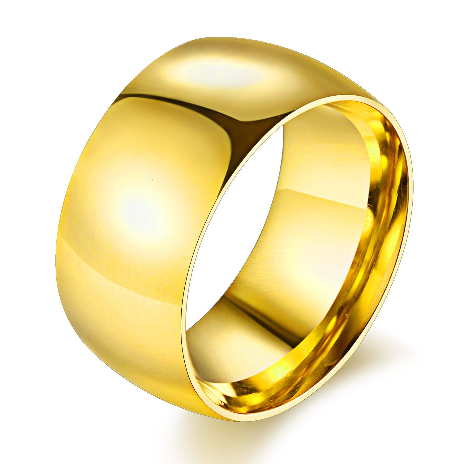 Fashion Smooth 100 Pure Titanium Steel Ring 11mm Wide Goldsilverblack Color Wedding Rings For Women And Men Anel Jewelery: 11 Mm Wedding Bands At Reisefeber.org
