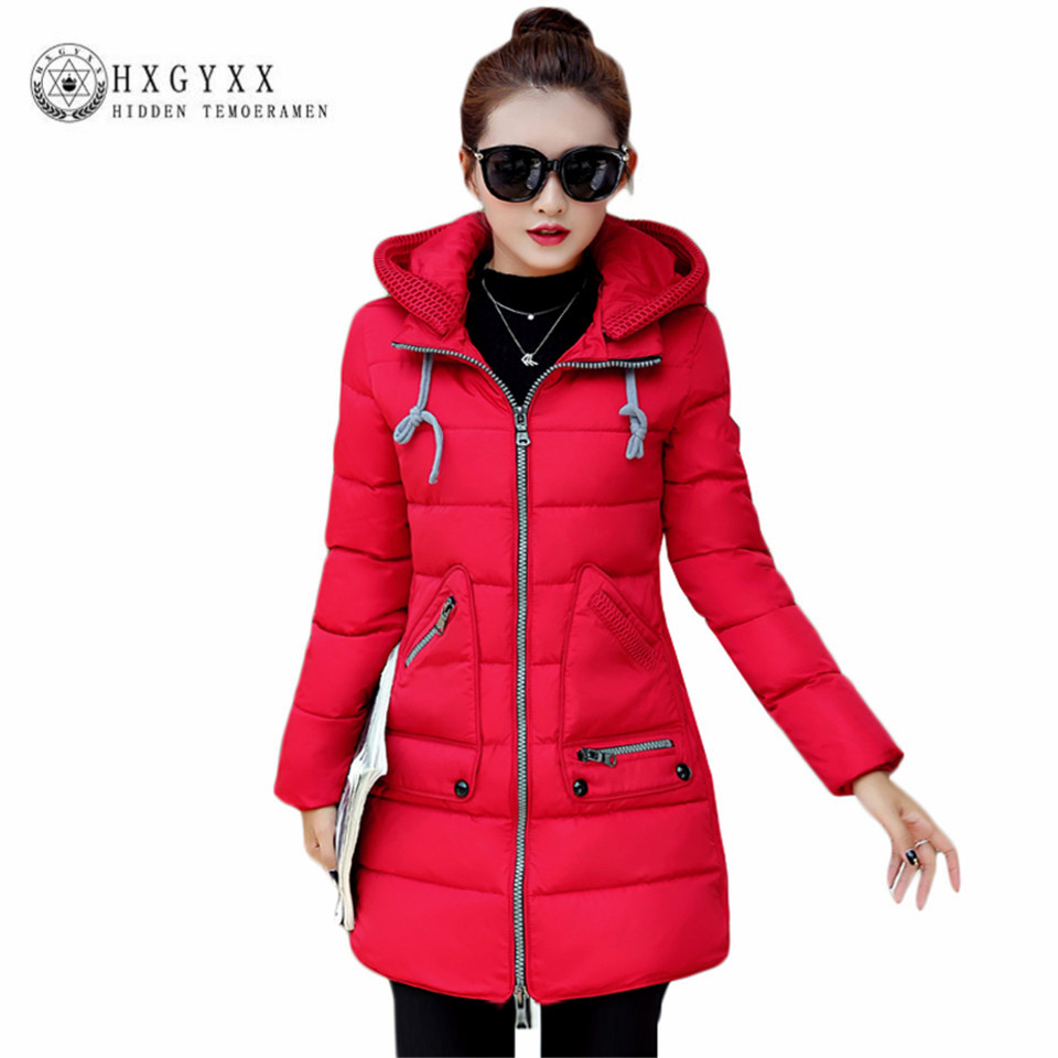 XL-7XL Plus Size Woman Slim Parka 2017 Winter New Thick Warm Removable Hooded Cotton Padded Coat Wadded Pocket Outerwear OK398 стоимость