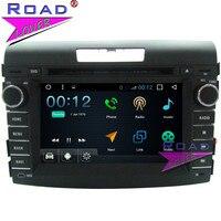 TOPNAVI Android 7,1 1 г + 16 ГБ 4 ядра dvd плеер автомобиля Авто видео для Honda CRV 2012 Стерео gps навигация головное устройство Wi Fi два Din
