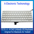 A1342 White Color Test 100% Хорошо Части НОУТБУКА Для Apple Macbook Air Unibody 13.3 ''US Клавиатуры Тестирование