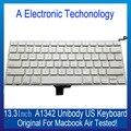 A1342 branco cor teste 100% bem peças do portátil para apple macbook air unibody 13.3 teclados ''us testado