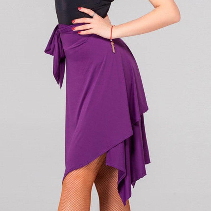 Femme noir/rouge/violet Latin jupe Salsa Tango Rumba Cha Ballroom danse jupe