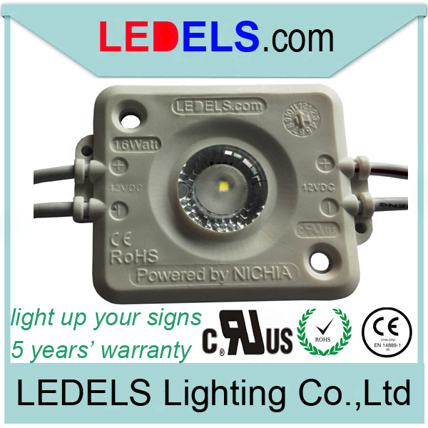 600pcs per lot 110~120lm 12v 1.6w Osram /Nichia UL listed led modules signage high power for single side light box signage
