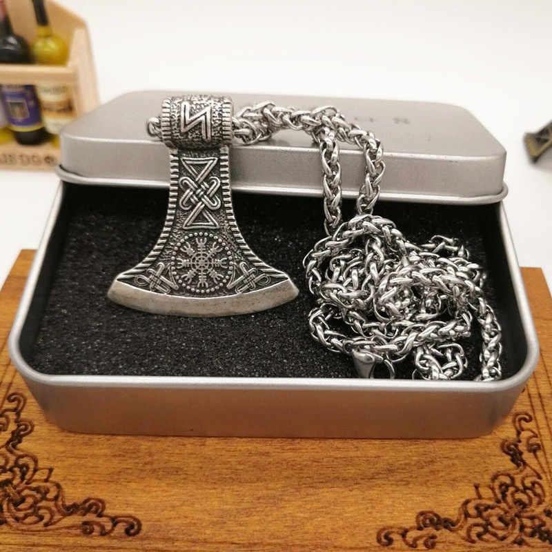 Viking Perun Aegishjalmur Rune Axe Pendant Vòng Cổ Người Đàn Ông Phụ Nữ Viking Jewelry Drop Shipping