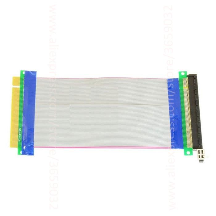 20CM PCI-E 16X to 16X riser card adapter extender cable PCI E 16 X Pci Express x16 to x16 Flexible riser 1X 4X 8X 16X new usb3 0 008s pci e riser express 1x 4x 8x 16x extender riser adapter card sata 15pin to 6pin power cable dual power interface