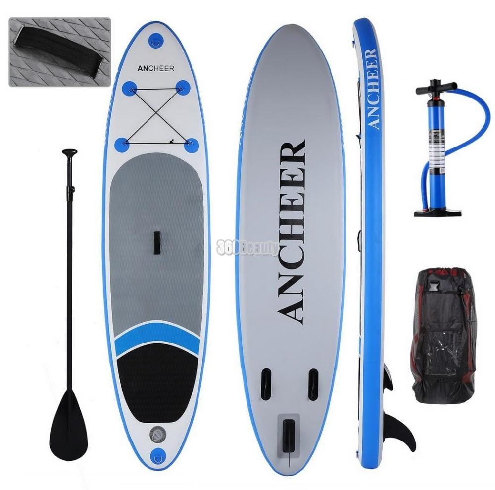 ANCHEER SUP 10ft Gonflable Tout usage élargi Planche De surf Stand Up Paddle Board iSUP planche de surf avec Réglable Paddle Sac À Dos