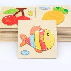 Cartoon 3D Puzzle Holzspielzeug Für Kinder Niedlichen Tier Verkehrs Puzzles Intelligenz für Kinder Baby Frühen Lernspielzeug