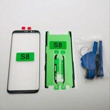 Yedek Harici Cam Samsung Galaxy S8 G950 G950F SM G950F dokunmatik LCD ekran Ekran Ön Cam Dış Lens S8