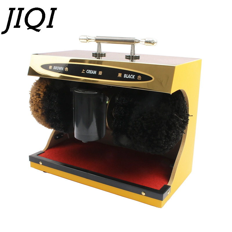 JIQI Electric Shoes Cleaner Sole Care Boot Shoe Polisher Washing Brush Automatic Polishing Leather Shine Cleaning Machine Washer