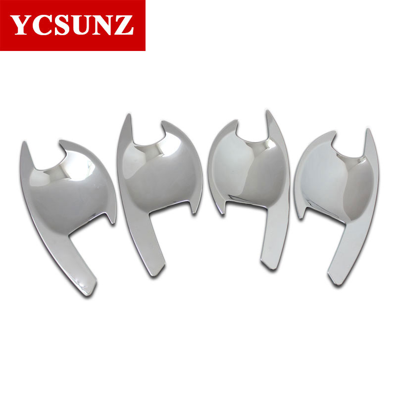 2016-2019 For Mitsubishi L200 Triton Accessories Chrome Door Handle Inserts Bowls For Mitsubishi L200 Triton Car Styling Ycsunz