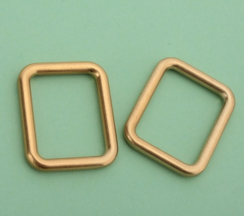 3.0mm inside 20.5*16mm(7/8 inch) GOLD color square buckle DIY bags pet accessories makin ...